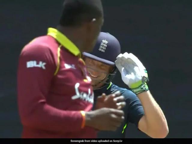 Jos Buttler Wallops Sheldon Cottrell gave him a salute for six   Cricket News