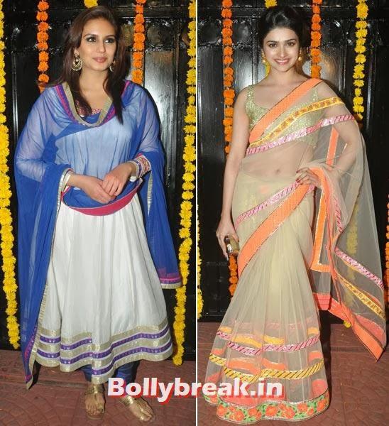 Huma Qureshi and Prachi Desai, Ekta Kapoor's Diwali bash 2013