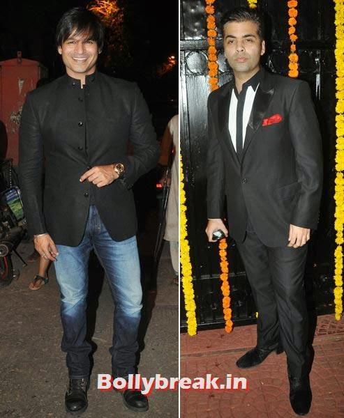 Vivek Oberoi and Karan Johar, Ekta Kapoor's Diwali bash 2013