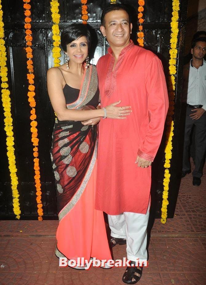 Mandira Bedi and Raj Kaushal, Ekta Kapoor's Diwali bash 2013