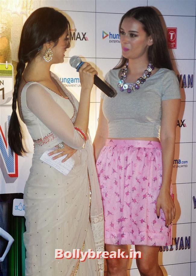 Divya Khosla Kumar and Evelyn Sharma, Yaariyan Launch Party