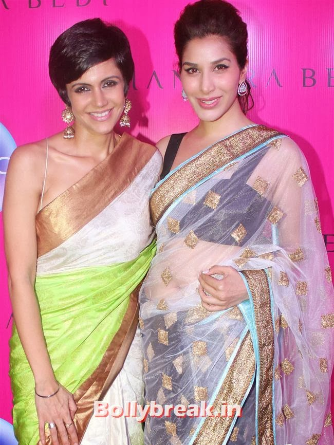 Mandira Bedi and Sophie Choudhary, Mandira Bedi Sari Store Launch Photos