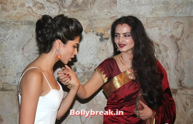 Deepika Padukone and Rekha, Ram Leela Premiere Photos