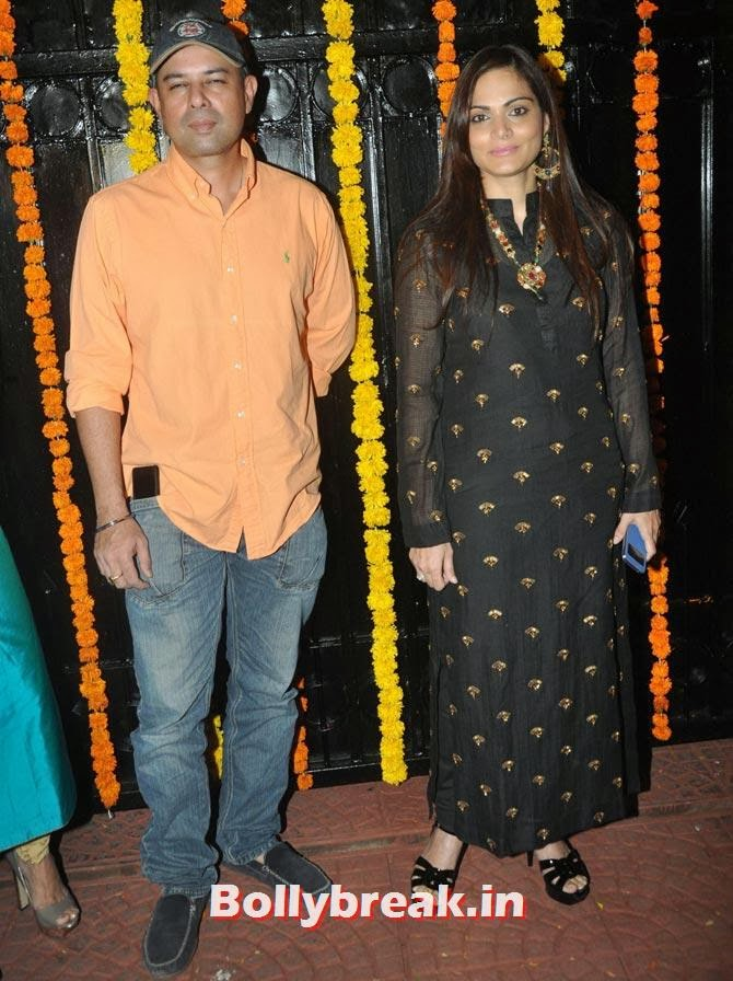 Atul Agnihotri and Alvira Khan, Ekta Kapoor's Diwali bash 2013
