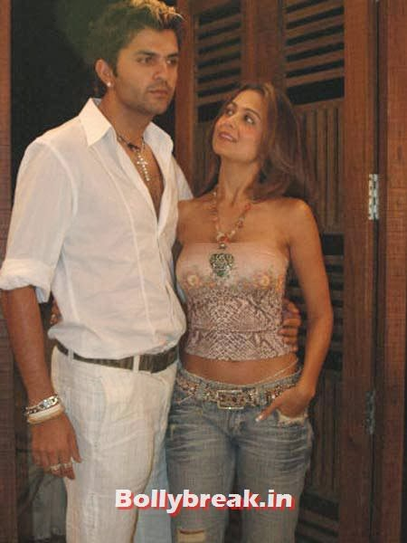 Usman Afzal and Amrita Arora:  After a four-year  relationship with the London-based English cricketer, Amu finally broke  up. She's now married to Shakeel Ladak, neither an actor nor a cricketer