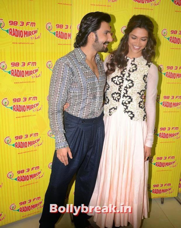 Ranveer Singh trying to kiss Deepika Padukone?,  Ranveer Singh, Deepika Padukone Together: Ram Leela Promotions