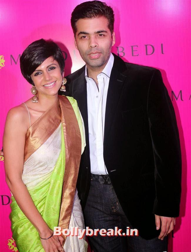 Mandira Bedi and Karan Johar, Mandira Bedi Sari Store Launch Photos