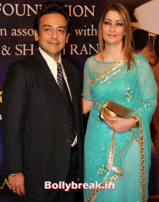 Adnan Sami and Roya Faryabi, Bollywood Beauties at Yash Chopra Memorial Awards