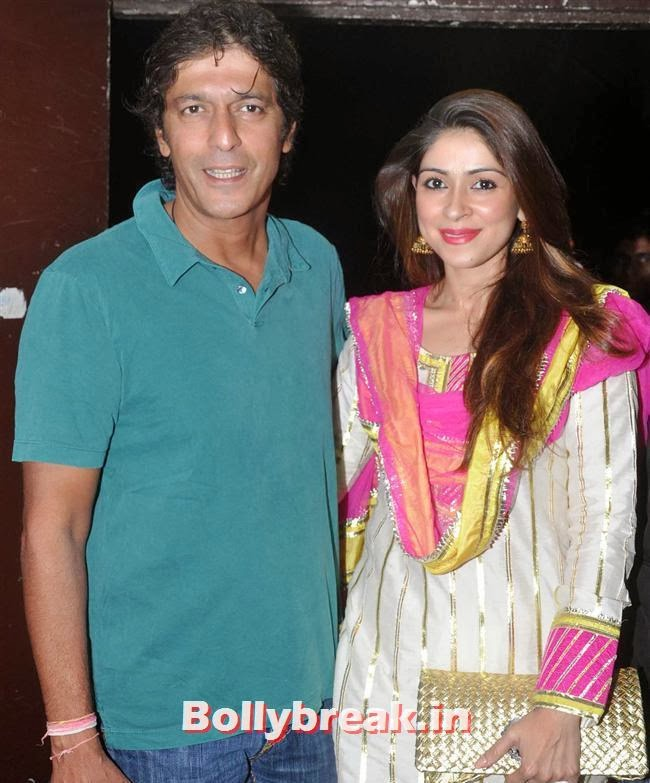 Chunky and Bhavna Pandey, Krrish 3 Special Screening