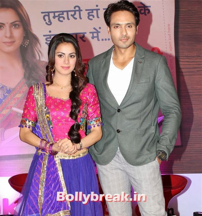 Shraddha Arya and Iqbal Khan, Tumhari Paakhi Show Launch