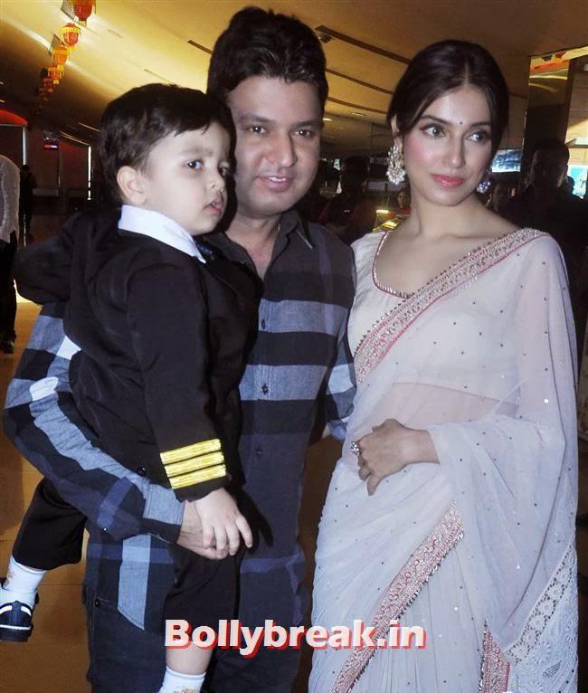 Bhushan Kumar and  Divya Khosla Kumar with their son, Yaariyan Launch Party