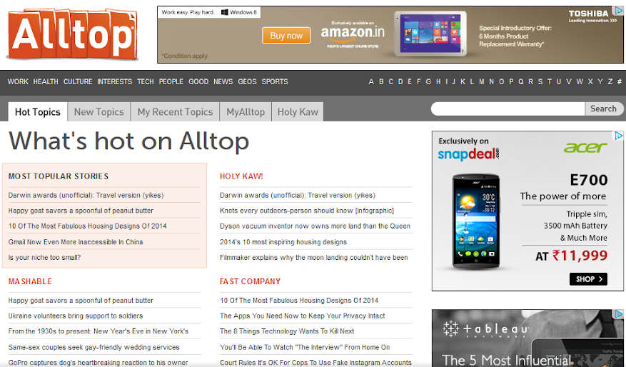 Ultimate Source of Online Traffic : Alltop : eAskme