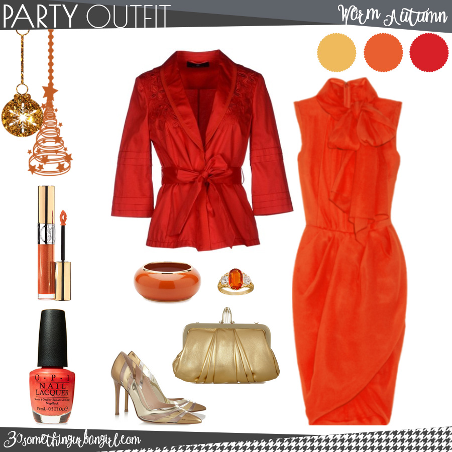Chic Christmas party outfit for Warm Autumn seasonal color women
