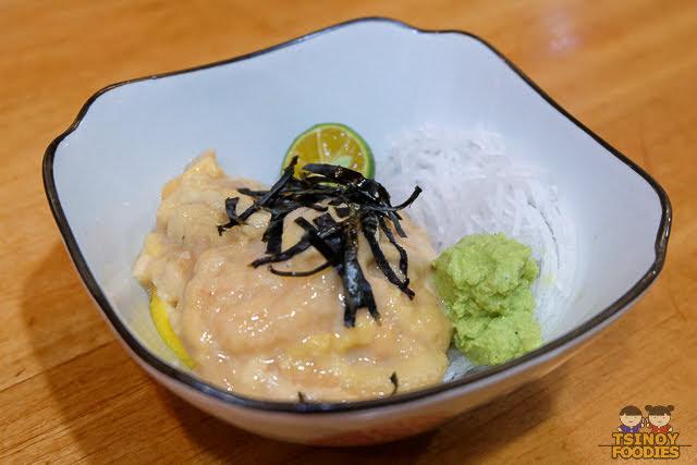 uni sea urchin sashimi