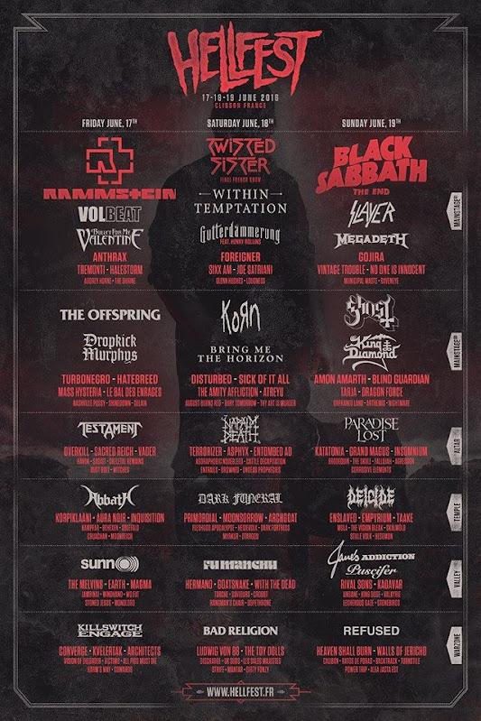Hellfest 2016 - Affiche