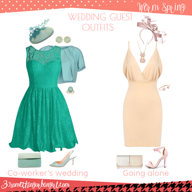 Wedding guest outfit ideas for Warm Spring women by 30somethingurbangirl.com // Are you invited to a your co-worker's wedding or maybe going solo to a nuptials? Find pretty outfit ideas and look fabulous!
