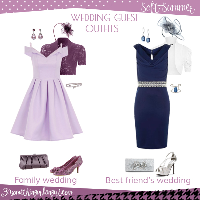 Wedding guest outfit ideas for Soft Summer women by 30somethingurbangirl.com // Are you invited to a family or your best friend's wedding? Find pretty outfit ideas and look fabulous!