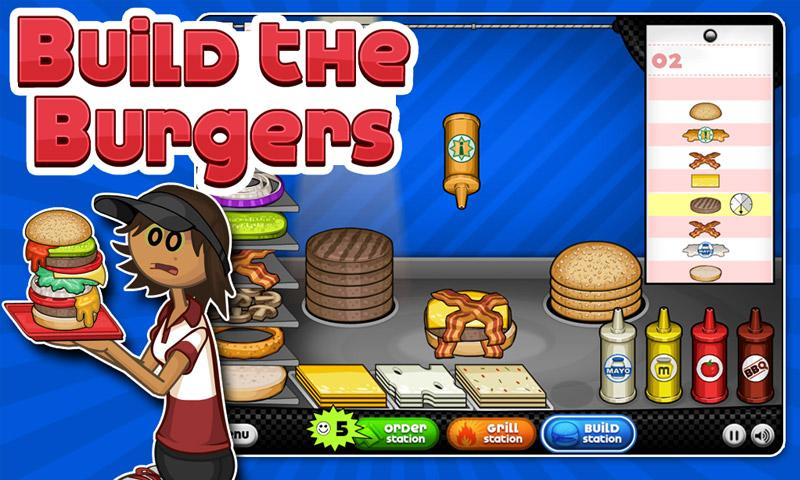 Papa Louie has been serving mean pizza since 2006. Now he's opened up his very own burger restaurant dubbed Papa's Burgeria! #TimeManagement #OnlineGames #FlashGames #PapaLouie