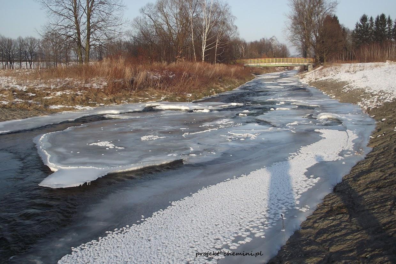 Rzeka Kamienna skuta lodem