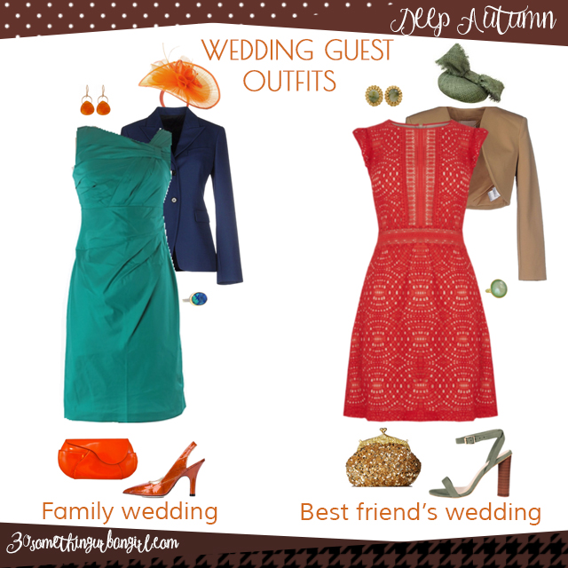 Wedding guest outfit ideas for Deep Autumn women by 30somethingurbangirl.com // Are you invited to a family or your best friend's wedding? Find pretty outfit ideas and look fabulous!