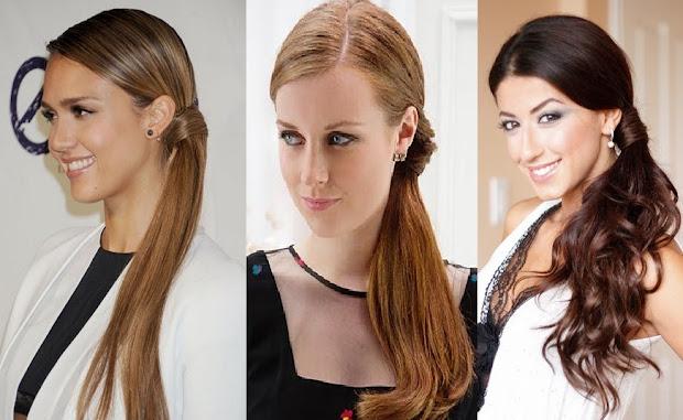 gaya-rambut-dikuncir-samping