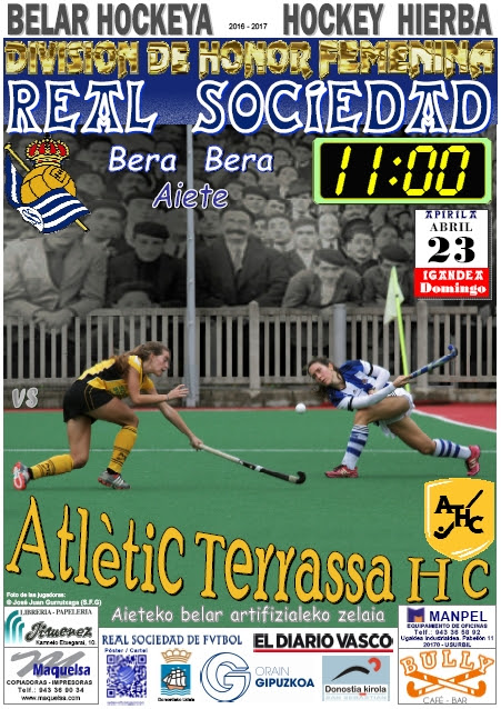 Cartel hockey 2017-04-23 Real Sociedad - ATLÈTIC Terrassa H. C.