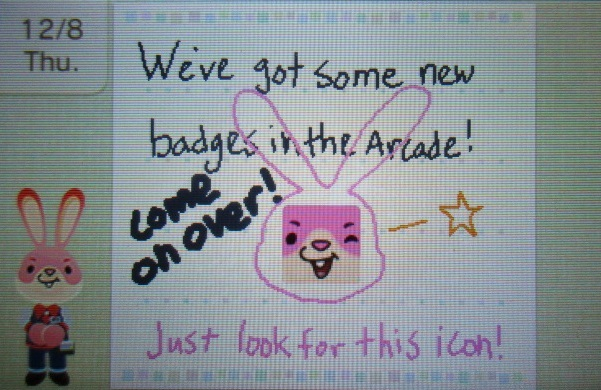 Nintendo Badge Arcade Swapdoodle advertisement note new badges