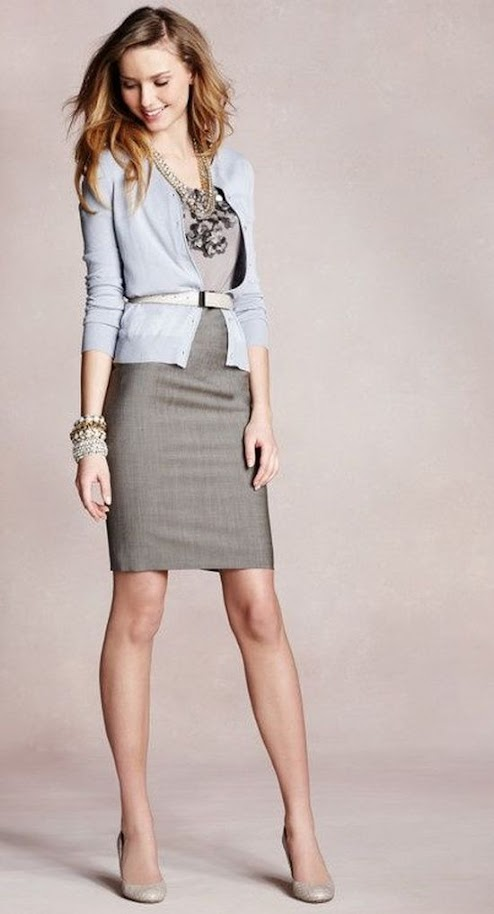 Chic monochrome outfit idea with gray cardigan and suit dress for Soft Summer women