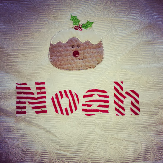 Santa sack using old sleepsuits