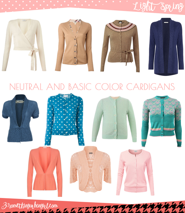 Wardrobe Essential: Neutral and basic color cardigans for Light Spring women by 30somethingurbangirl.com