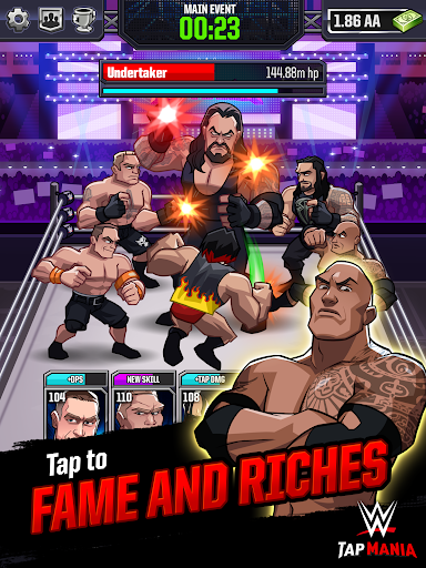 WWE Tap Mania Get in the Ring in this Idle Tapper Hack