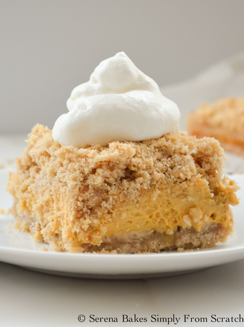 Easy to make Pumpkin Cheesecake Crumb Bars.