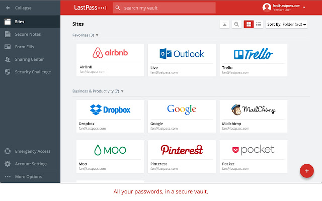 Chrome extensions LastPass