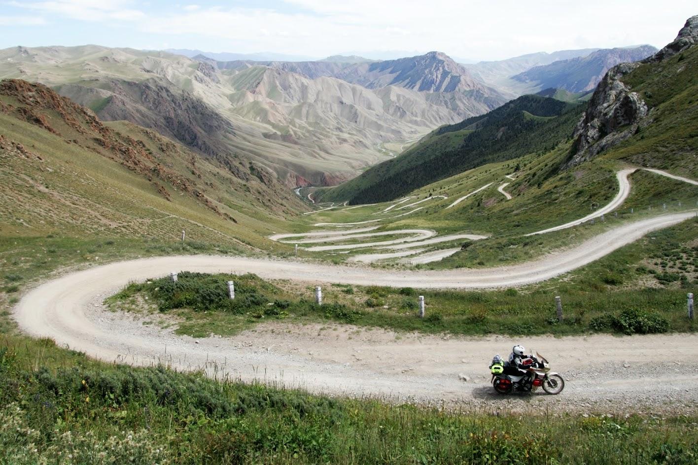motocyklem do Kirgistanu i Radżykistanu