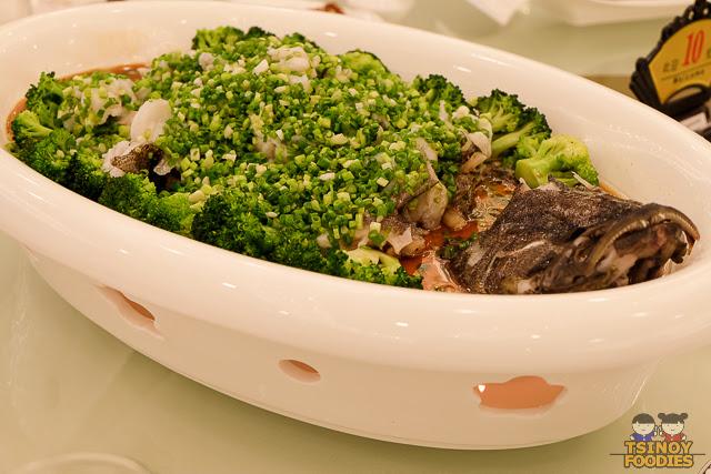 steamed red grouper