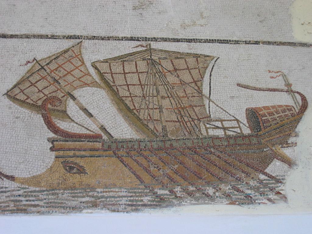 Roman Bireme mosaic
