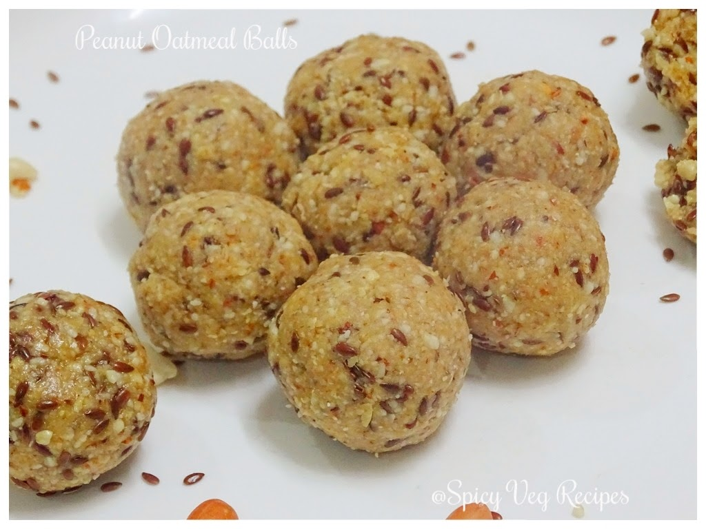 No Bake Oats and Peanut Ball/Ladoos-No Bake Energy Bites-Oats and Peanut Ladoo recipe