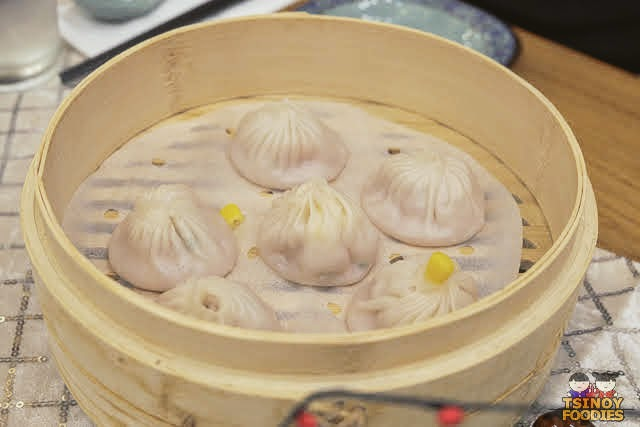 golden corn pork xiao long bao