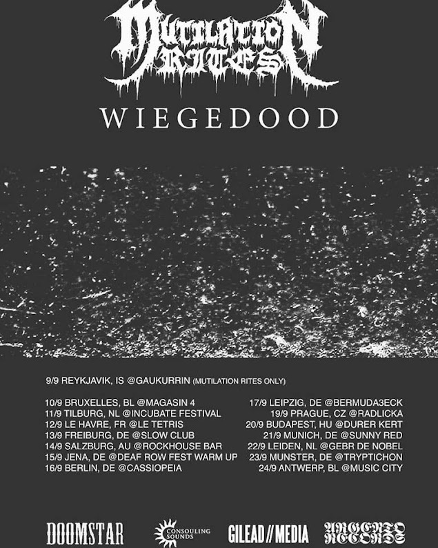 Mutilation Rites / Wiegedood  @European Tour 2016