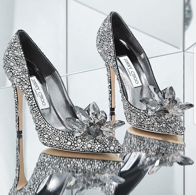 Jummy Choo Shoes, Designer Shoes, Wedding Shoes, Crystal Shoes