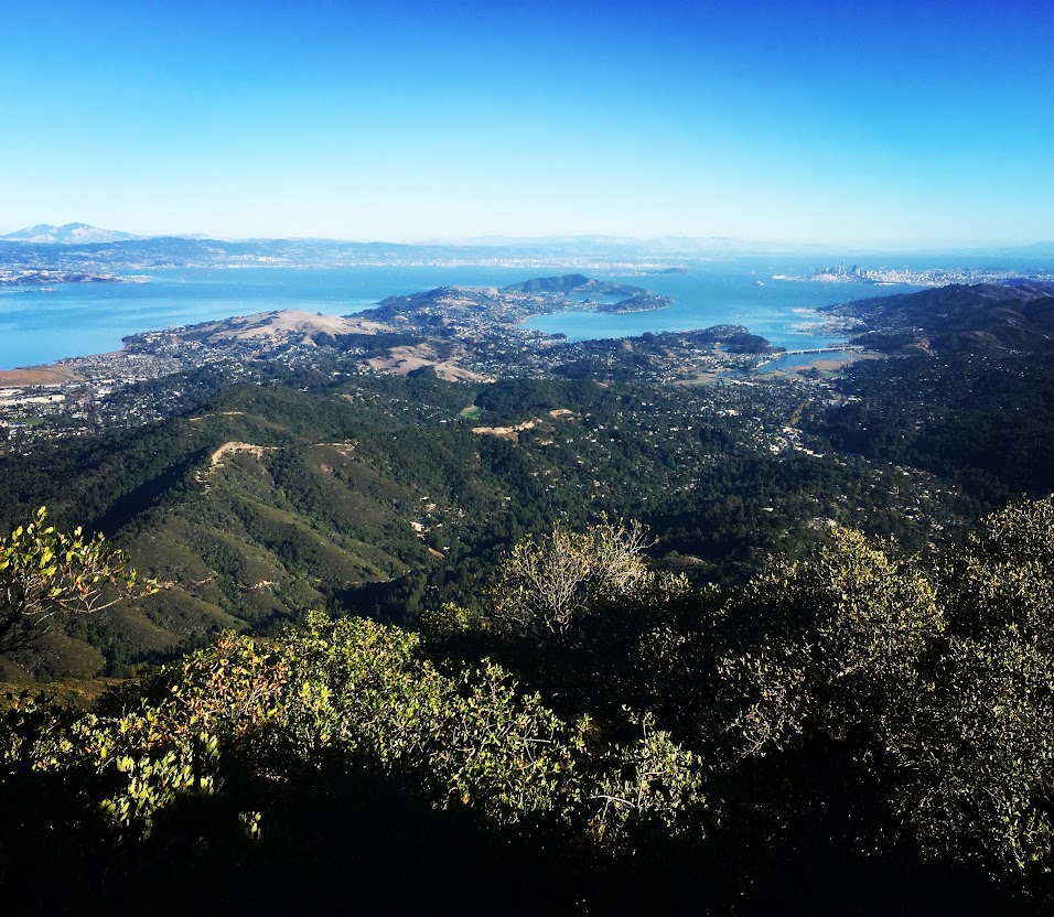 Mount Tamalpais, Mt. Tam, View of San Francisco Bay, Marin County, California. By Johnnie Chamberlin
