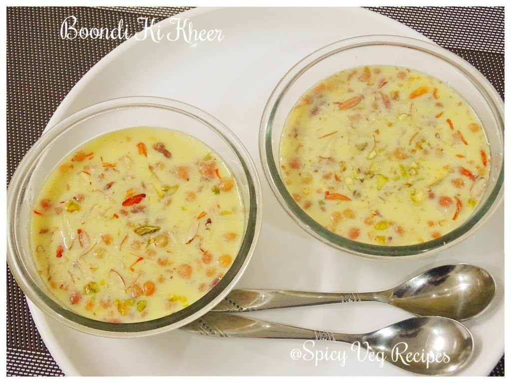 Boondi ki kheer is an another very innovative variation of a kheer. Boondi Kheer/ Payas is a one of the most delicious, easy to prepare Indian dessert.Boondi Ki Kheer is prepared especially during festivals from saffron flavored, thickened milk and sweet boondi.Desserts |Sweets | Mithai Recipes, Traditional Sweets, Indian Cuisine, veg recipes, step by step, boondi recipes, milk  recipes, 30 Minutes Recipes, Festivals N Occasions,kheer