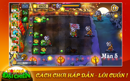Flower Zombie War Full Cho Android