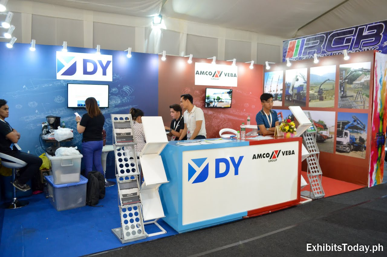 DY Amco Veba exhibit booth
