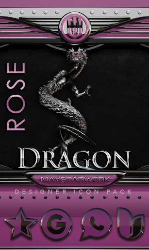 Rose Dragon HD Icon Pack