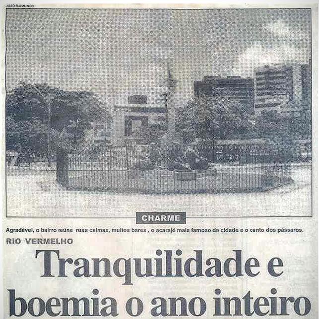 O Rio Vermelho já foi assim: Tranquilidade e boemia o ano inteiro - 20/10/2001 - Tribuna da Bahia