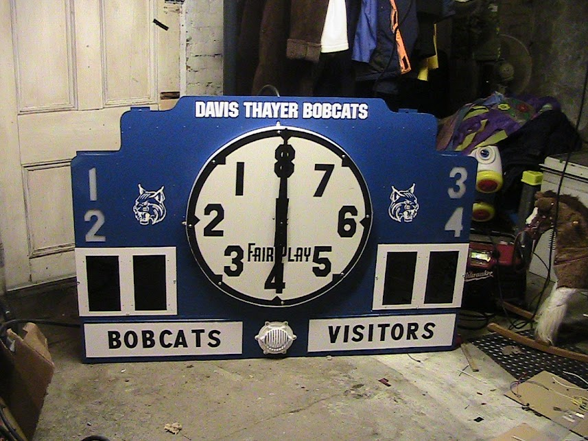Also from Jan 2010 - The Davis Thayer scoreboard was redone