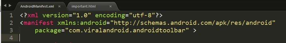 Android App Package Name From Manifest File