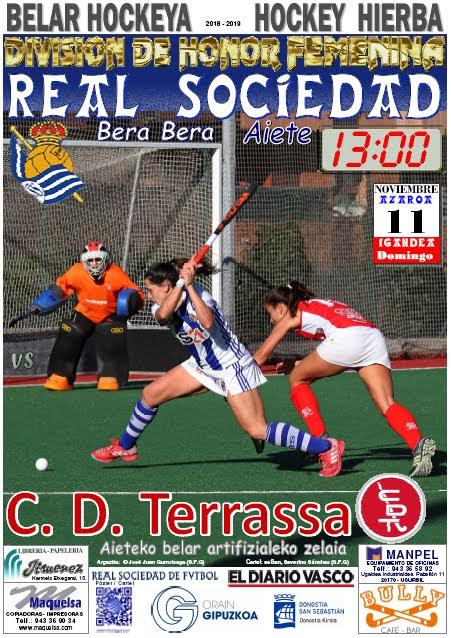 Cartel hockey 2018-11-11 Real Sociedad - C. D. TERRASSA.