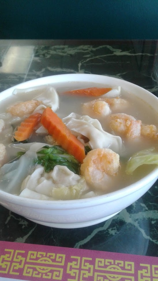 Shrimp won ton soup from Hong Kong Restaurant
